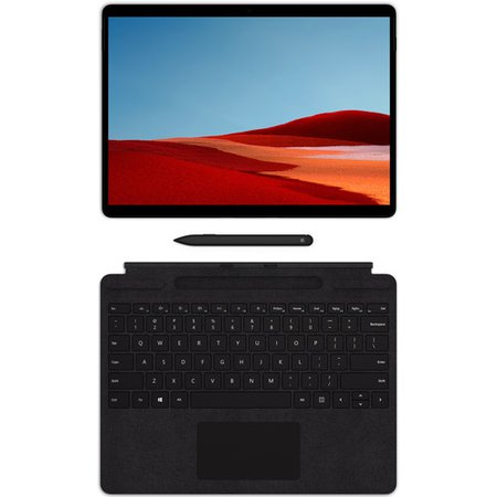 """Microsoft 13"""" Multi-Touch Surface Pro X with Surface Pro X Keyboard and Surface Slim Pen (Matte Black)"""