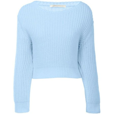 Light Blue Cropped Sweater