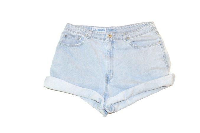Vintage 1990's LA Blues Light Wash Denim Mom Shorts Jean | Etsy