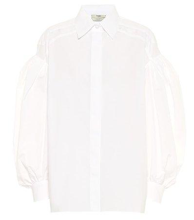 Cotton Poplin Shirt Fendi