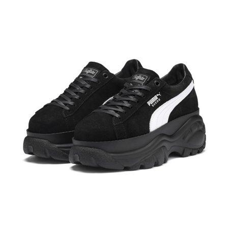 PUMA x Buffalo Suede Women's Sneakers | Puma Black-Puma Black | PUMA Platforms | PUMA United States