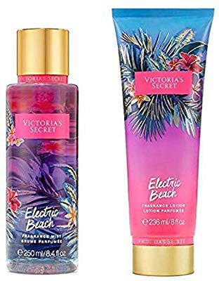 Amazon.com : Victoria's Secret Electric Beach Bundle Fragrance Lotion and Fragrance Mist : Beauty