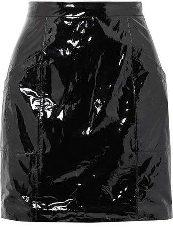 Pvc Mini Skirt - Black