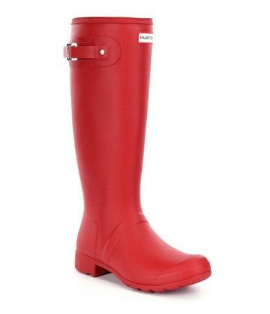 Hunter Women's Original Matte Tour Buckle Strap Rain Boots | Dillards
