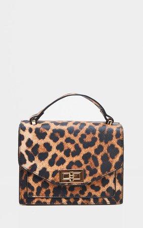 Leopard Pu Box Cross Body Bag | Accessories | PrettyLittleThing USA