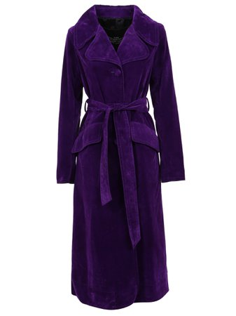Marc Jacobs The Velveteen Fit & Flare Coat