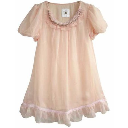 pastel pink baby doll dress