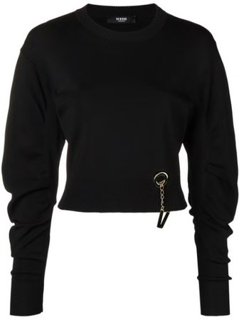 Logo Embellished Knit Sweater - CodiPOP