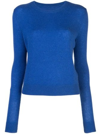 Shop blue The Elder Statesman Tranquility crew neck sweater with Express Delivery - Farfetch