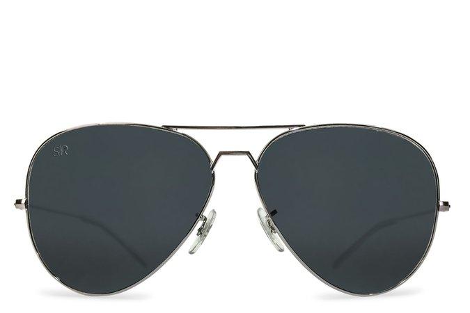 Aviator Elite - Blackout Polarized – Shady Rays® | Polarized Sunglasses