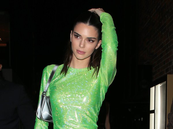 Kendall Jenner wears green glitter outfit to BRIT Awards after-party - Insider
