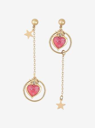 Sailor Moon Cosmic Heart Mismatch Drop Earrings