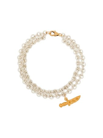Shop gold & white Alighieri silver and 24K gold-plated Captured Protection bracelet with Express Delivery - Farfetch