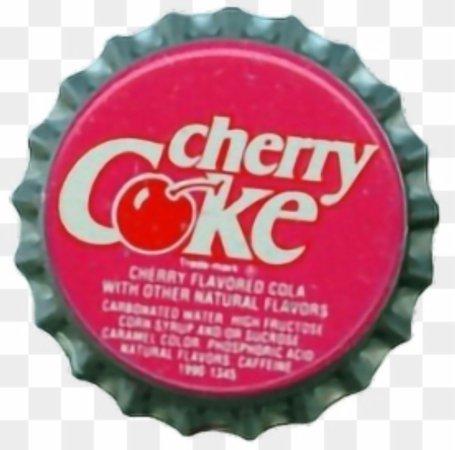 cherry coke bottle cap