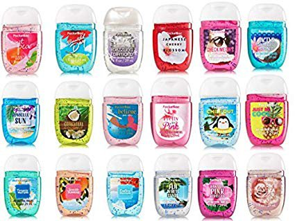 Amazon.com : Bath and Body Works Anti-Bacterial Hand Gel 5-Pack PocketBac Sanitizers, Assorted Scents, 1 fl oz each : Beauty