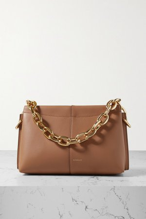 Carly Mini Leather Shoulder Bag - Brown