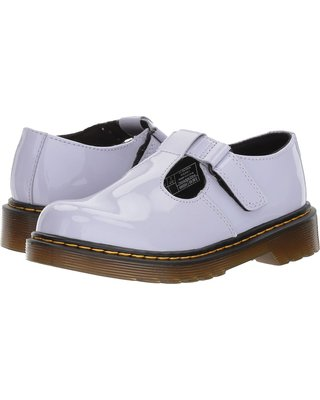dr. martens kids collection goldie purple heather patent shoes
