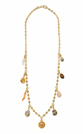 Gold-Plated Lucky Charm Necklace By Lizzie Fortunato | Moda Operandi
