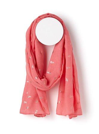 Shimmery pineapple scarf | Simons | Shop Women's Light Scarves online | Simons