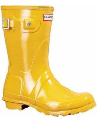 Amazing Deal on Women's Hunter Original Short Gloss Rain Boot - Yellow Boots