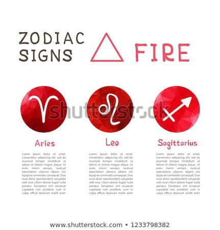 Zodiac Signs According Fire Element Aries Stock Vector (Royalty Free) 1233798382 - Shutterstock