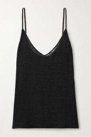 Black Kerry linen camisole | Nili Lotan | NET-A-PORTER