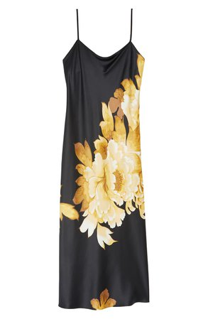 Natori Opulent Midi Nightgown black