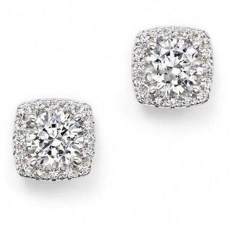 Square-Cut Diamond Earrings