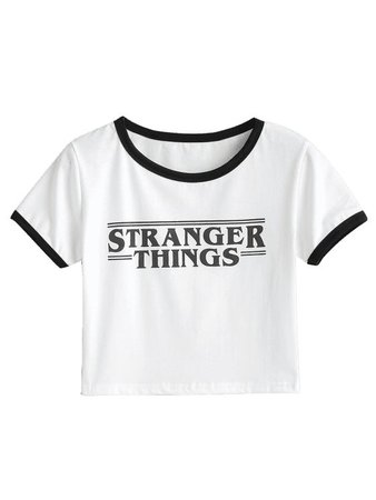 stranger things cropped top