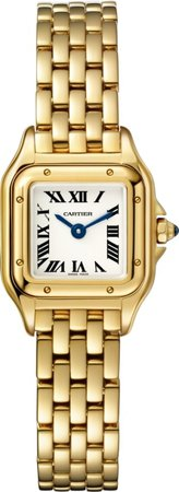 panthere de cartier mini yellow gold watch