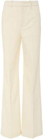 Jess Drill Cotton-Blend Wide-Leg Pants