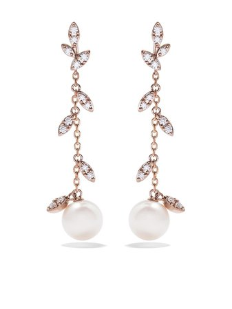 Shop TASAKI 18kt rose and yellow gold Kugel diamond earrings with Express Delivery - FARFETCH
