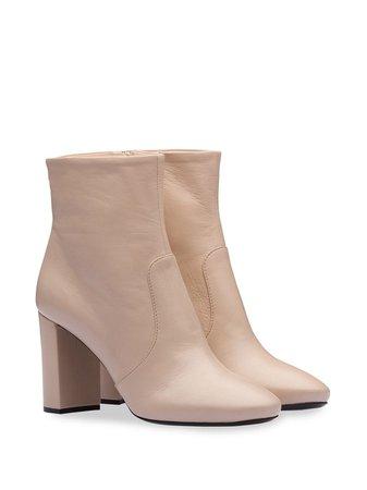 Prada Madras Leather Booties 1T671LF085034 Pink   Farfetch