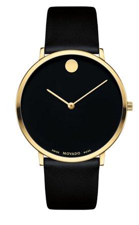 Black Movado women's watch
