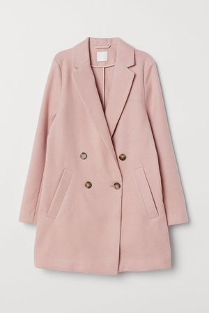 pink h&m coat