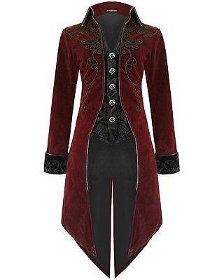 Devil Fashion Mens Tailcoat