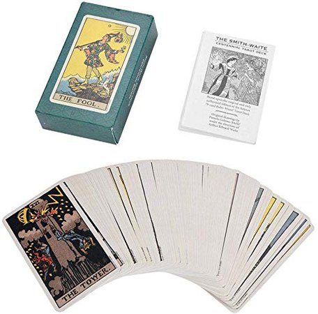 Haofy Tarot Deck Future Telling Game Card Set with Colorful Box Vintage 78Pcs/Set(Smithstar Tarot), Toys & Games - Amazon Canada