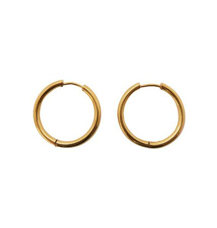Thick gold hoops • 31mm | Örhängen | WOS