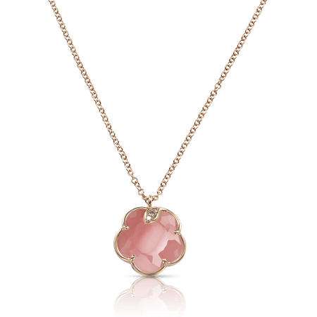 18k Rose Gold Petit Joli Necklace with Pink Chalcedony, Pasquale Bruni