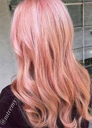 pink rose gold hair - Google Search
