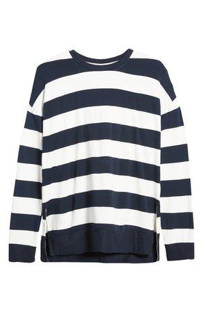 Thread & Supply Varsity Rugby Stripe Pullover white
