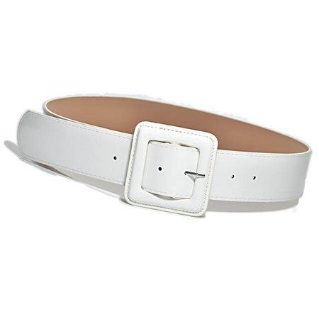 Online Shop New Fashion Lady Wide White Belt Square Pin Buckle Solid PU Leather Strap belts Belt Women Dress Accessory bg-936   Aliexpress Mobile