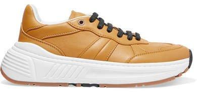 Speedster Leather Sneakers - Mustard