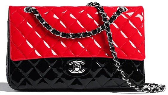 Chanel red black