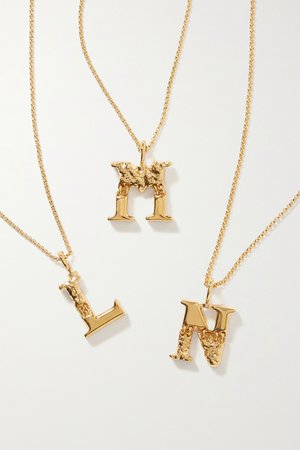 Gold Alphabet gold-tone necklace | Chloé | NET-A-PORTER