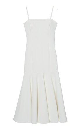 Carolina Herrera, Flared-Hem Stretch-Crepe Midi Dress