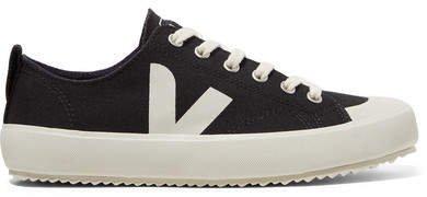 Net Sustain Nova Organic Cotton-canvas Sneakers - Black