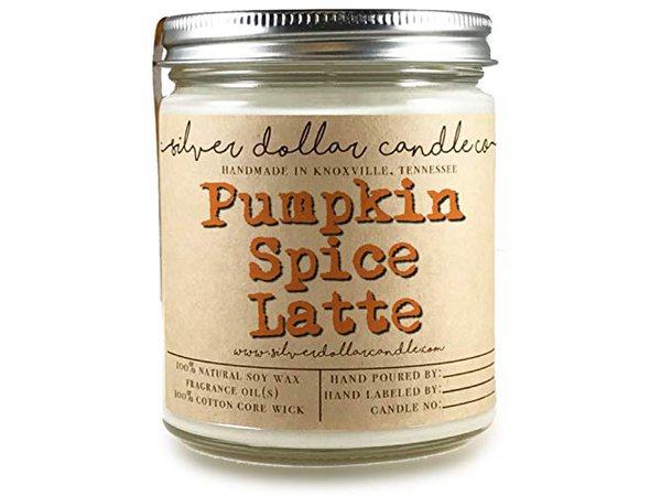 Amazon.com: Pumpkin Spice Latte Candle 8oz Scented Soy | Hand poured 100% Soy Wax Made in Tennessee, USA: Handmade