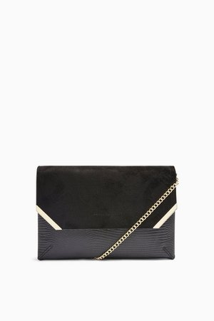 SHINE Black Clutch Bag | Topshop
