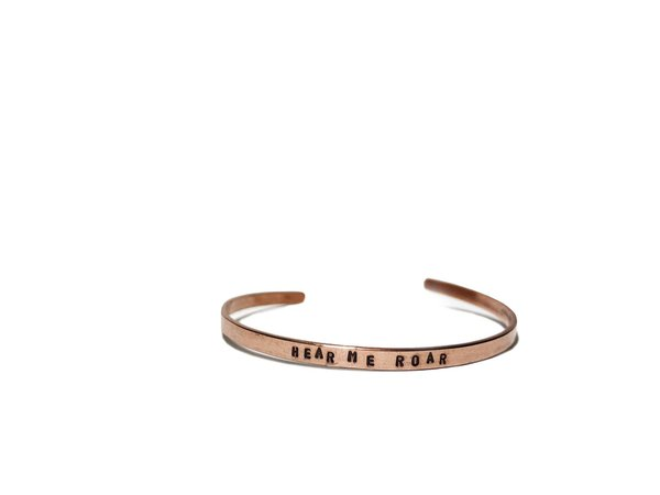 Rose Gold Feminist Wrist Cuff